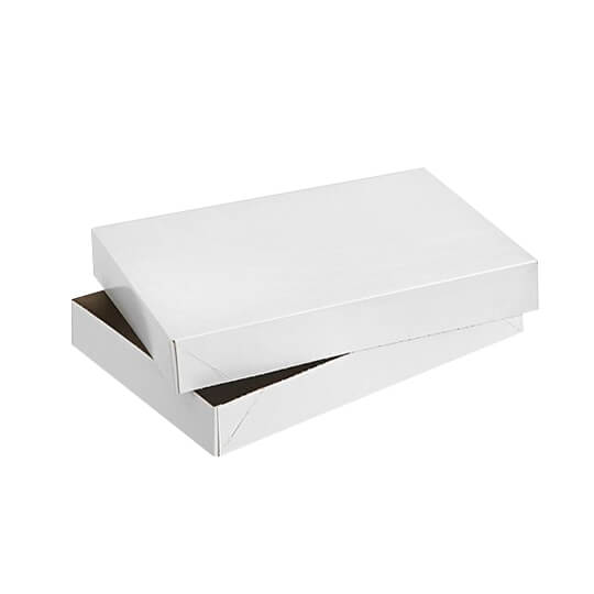 Printed White Apparel Boxes